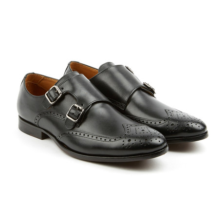 The Straight Double Monk Strap Dress Shoes // Black (US: 10)