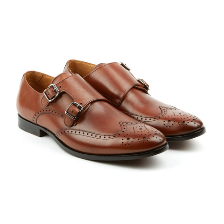 The Straight Double Monk Strap Dress Shoes // Brandy (US: 7)