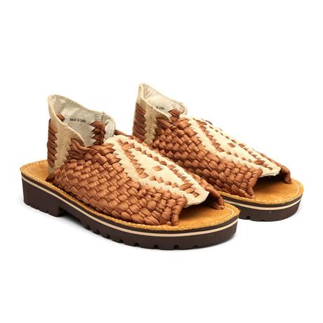 Aztac Sandal // Brown + Beige