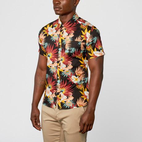 Frawl Woven Short-Sleeve Shirt // Black