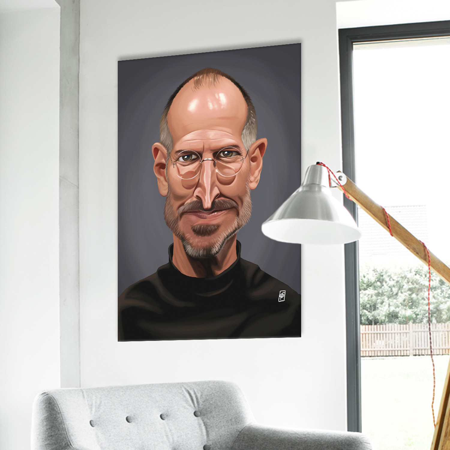 steve jobs metal posters touch of modern