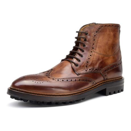 Claypool Wingtip Boot // Cognac