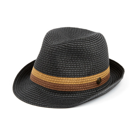 Kingston Paper Straw Hat // Black