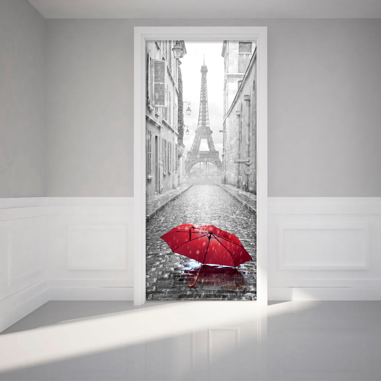 Eiffel tower umbrella ambiance sticker touch of modern - Stickers porte new york ...