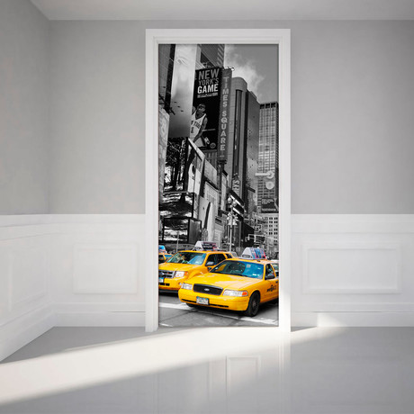 Ambiance sticker 3d wall decals touch of modern - Stickers porte new york ...