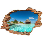 Beach Villas On Tropical Island