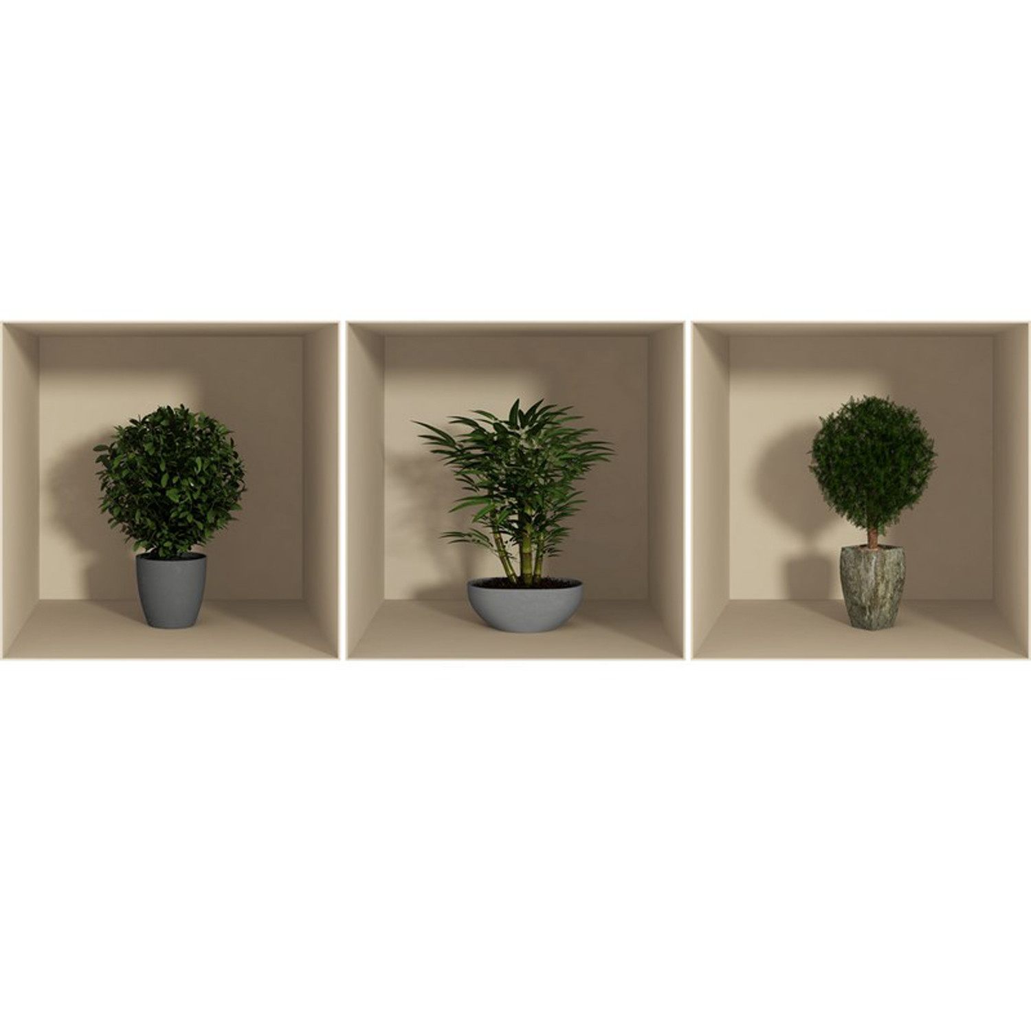Small bushes ambiance sticker touch of modern for Small bushy trees