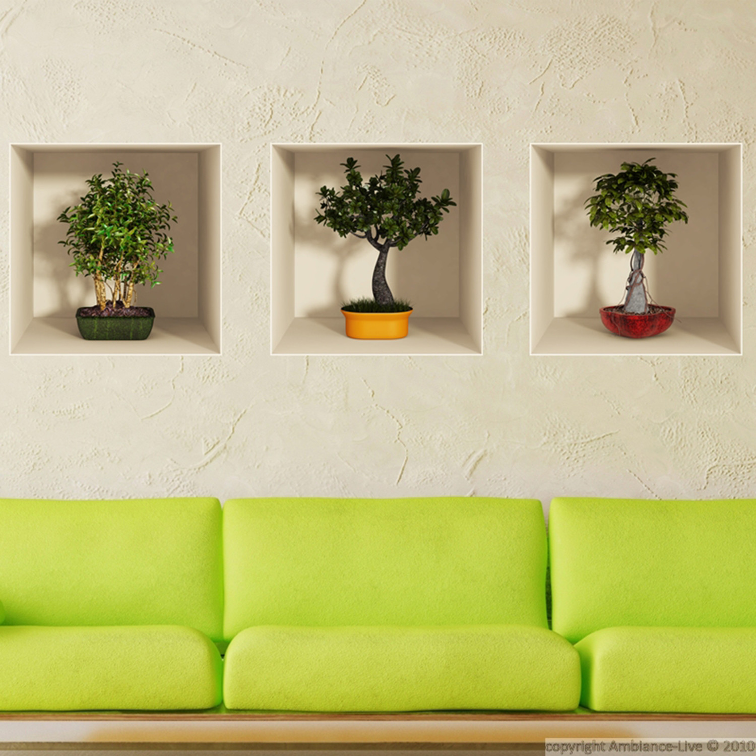 Bonsai Trees 3d Wall Decals Touch Of Modern
