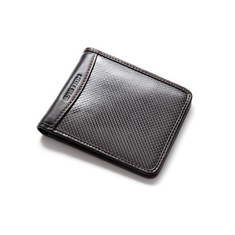 Carbon Fiber + Leather Bi-Fold Wallet