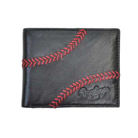Baseball Stitch Bifold Wallet // Black