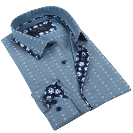 Classic Button-Up + Floral Trim // Chambray