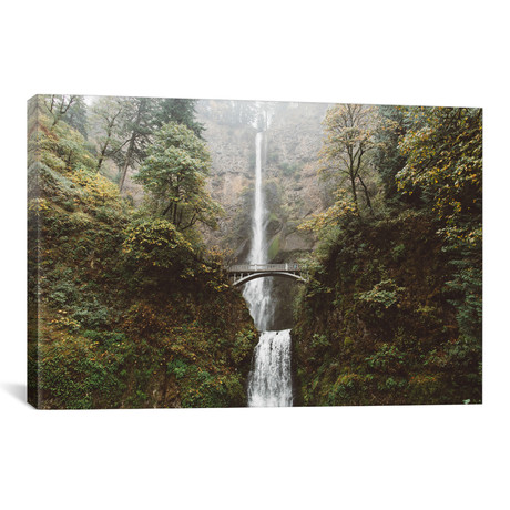 "Multnomah Falls // Wilder August (26""W x 18""H x 0.75""D)"
