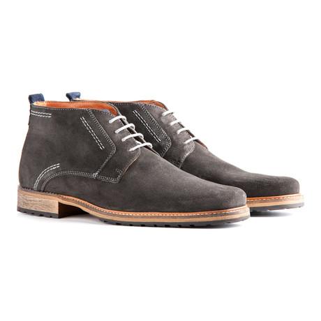 decb2d9f056874 Travelin Outdoor    London Suede Dress Shoe    Dark Grey (Euro  40