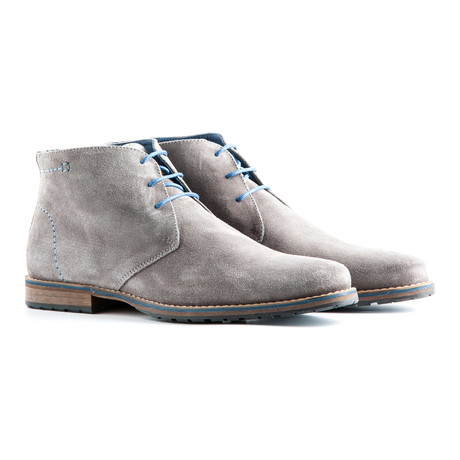Liverpool Suede Ankle Boot // Light Grey
