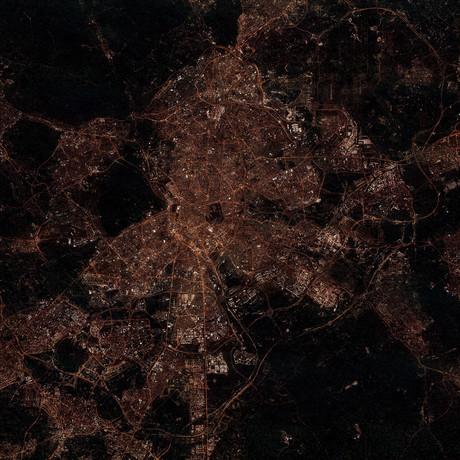 Madrid, Spain at Night