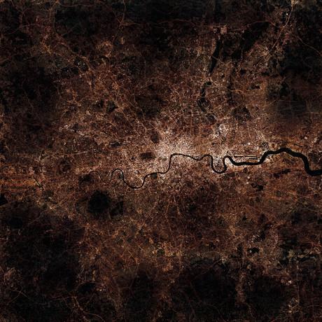London, England at Night (Unframed // 12