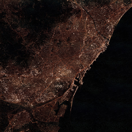 Barcelona, Spain at Night