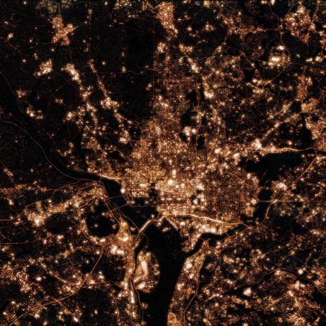 Washington DC at Night (Unframed // 12W x 12H)