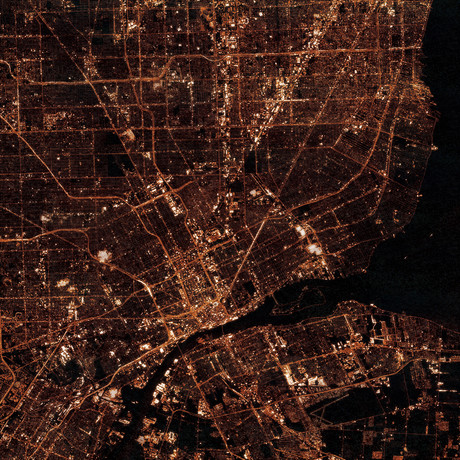 Detroit, MI at Night