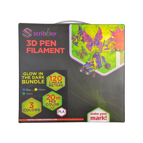 Scribbler 3D Pen Filament Bundle // Glow PLA Bundle