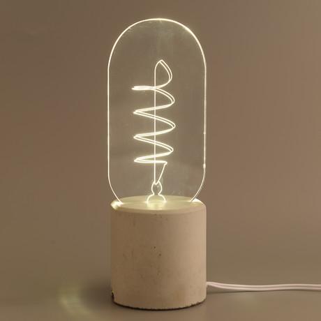 Swirl Bulb Lamp // Long