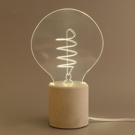 Swirl Bulb Lamp // Round
