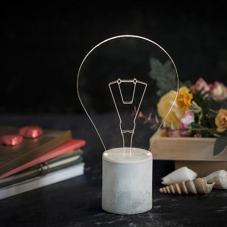 Classic Concrete Lamp // Grey