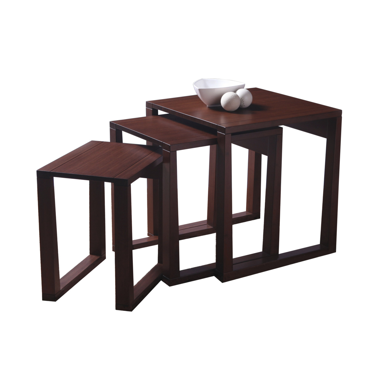 Nesting Tables Set Of 3 Greenington Touch Modern