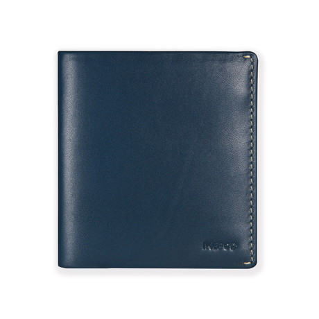Slim Carry Wallet // Navy Blue + Grey