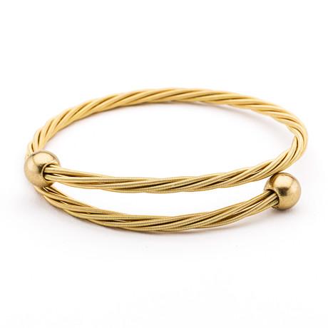Golden Baller Guitar String Bracelet