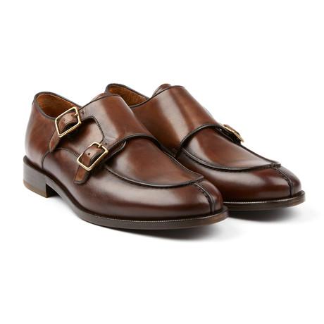Astor Double Monk Shoe // Tobacco (US: 9.5)