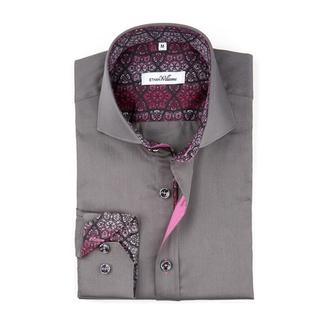 Ornate Accent Button-Up // Anthracite