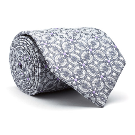 Hand Made Tie // Grey + Purple