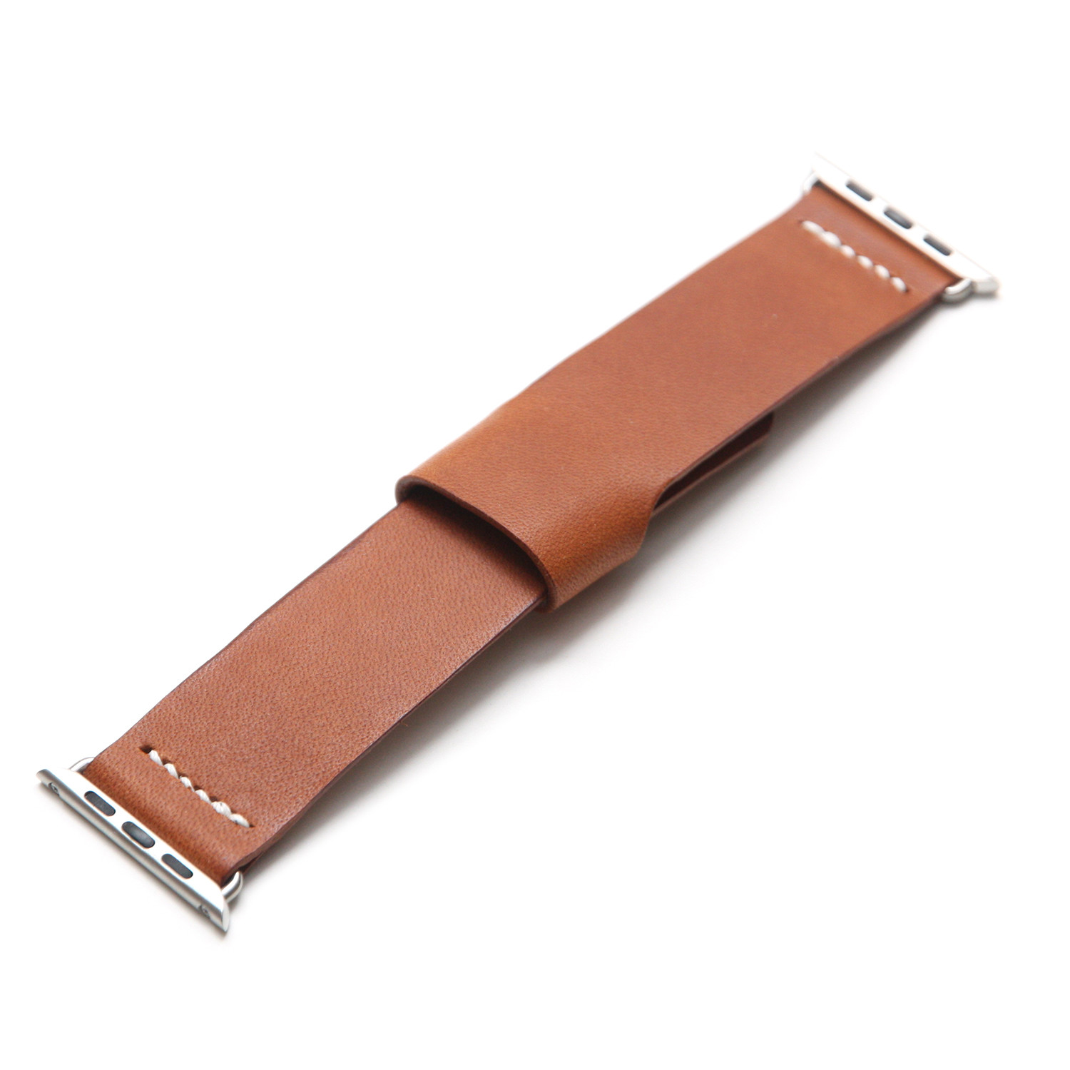 Apple watch bespoke leather band saddle brown small for What is bespoke leather