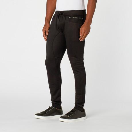 Zolive Side Zip Jogger // Black
