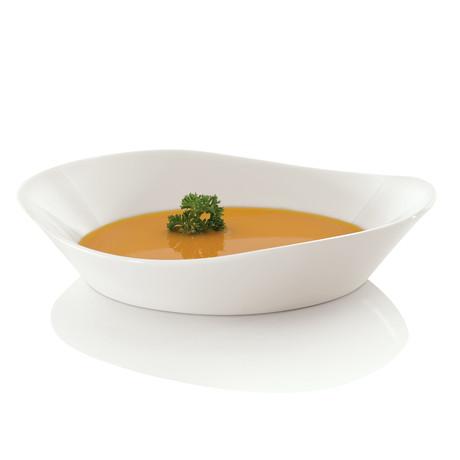 Eclipse Porcelain Soup Plate Set // 4pc