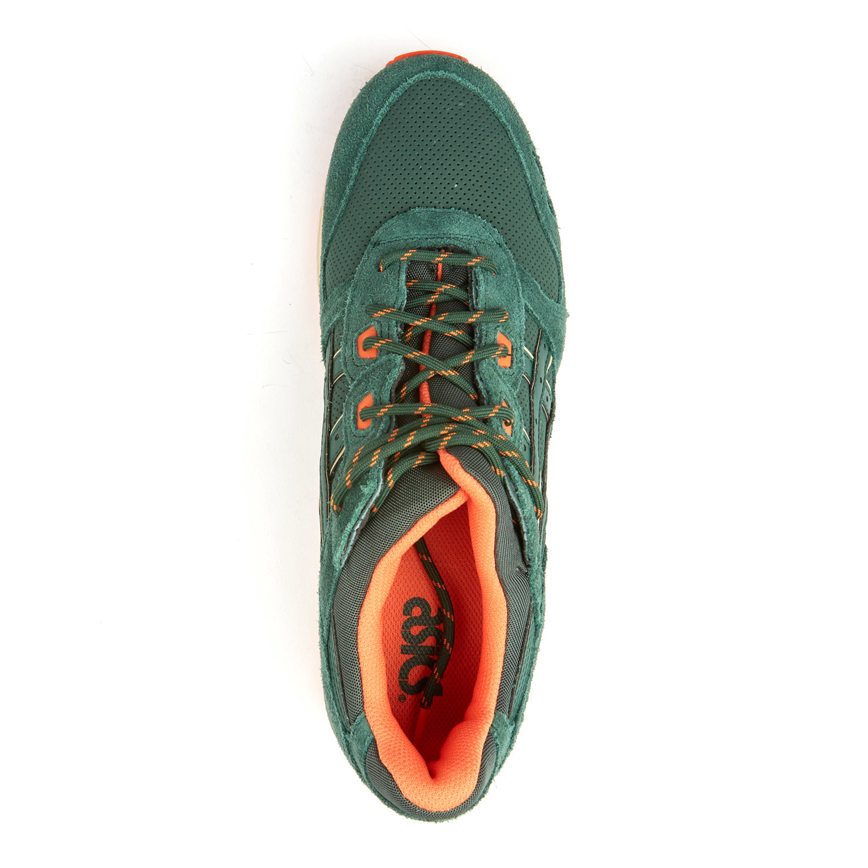 Asics Gel Lyte III Dark Green + Orange (US: 11.5