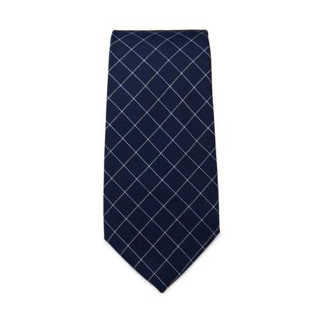 Graph Print Tie // Navy + White
