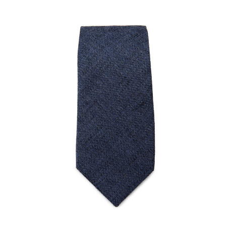 Herringbone Tie // Deep Blue