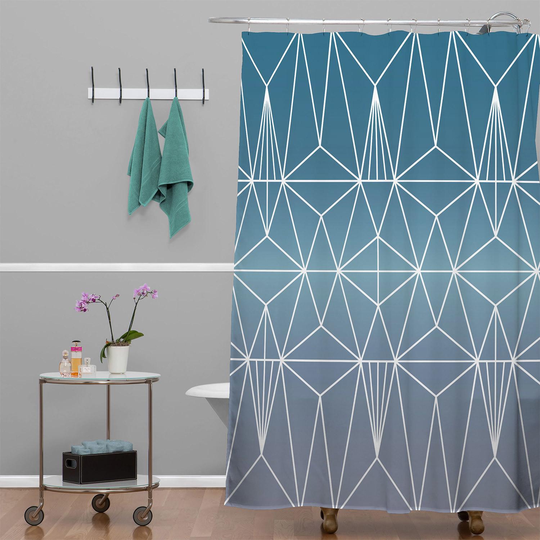 Nordic Combination 31 A Shower Curtain Mareike Bohmer
