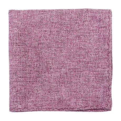 Solid Pocket Square // Rose
