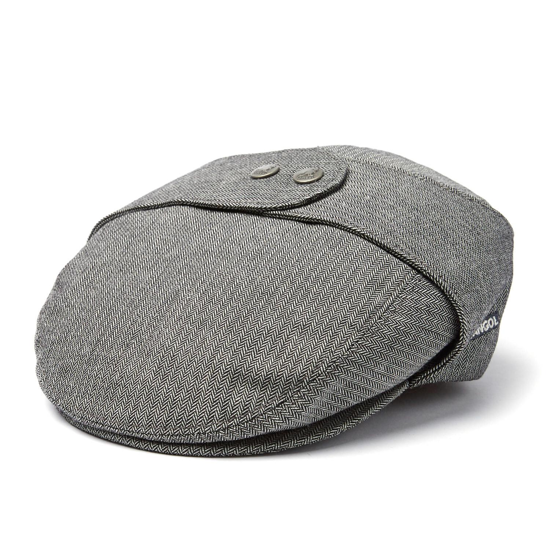 d0bc59a8cd8577 Tweed Bugatti Flat Cap // Canvas Herringbone (L) - Kangol - Touch of ...