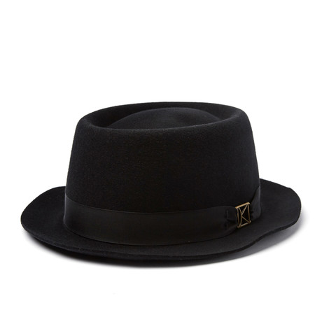 Kross Pork Pie Hat // Black (S)