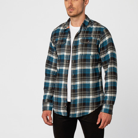 Long Sleeve Flannel Shirt // Lyons Blue