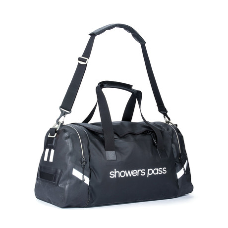 Refuge Waterproof Duffel Bag (White + Black)