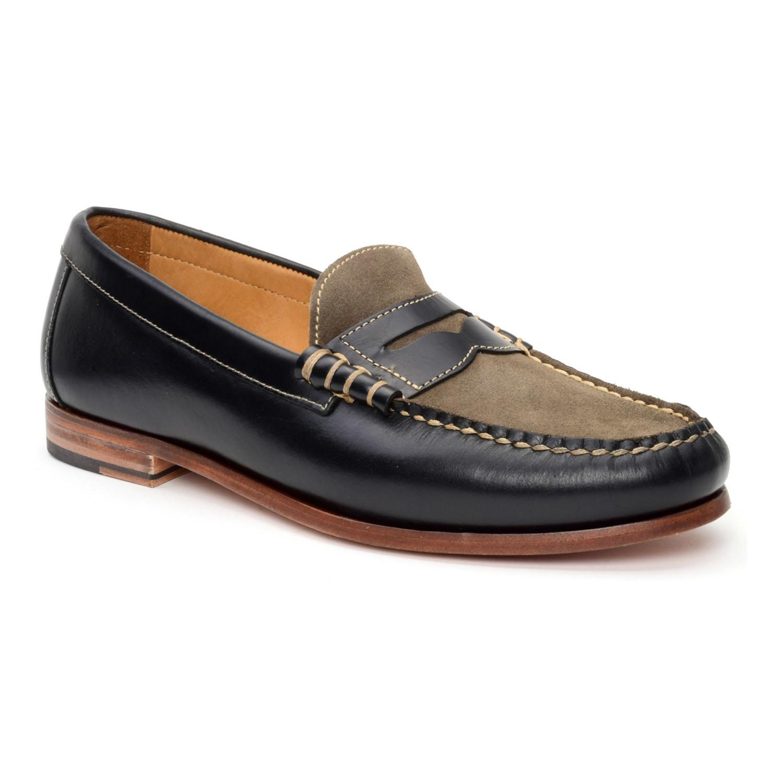 15168526202 Warfield   Grand    Drake Penny Loafer    Black + Grey (US  11 ...