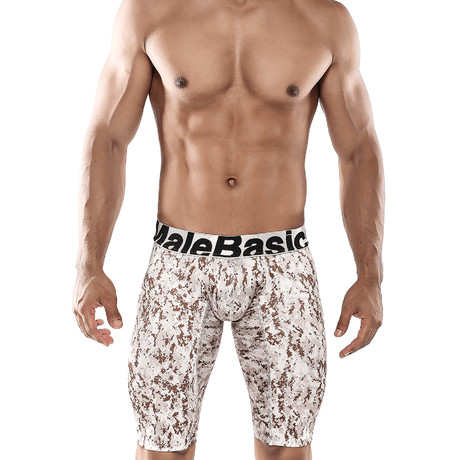 Athletic Camo Boxer Brief // Desert