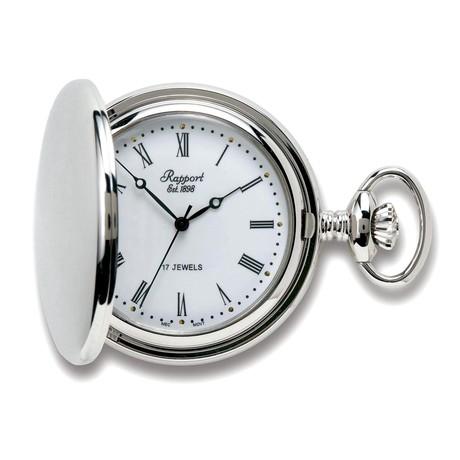 Rapport London Full Hunter Pocket Watch Manual Wind // PW55