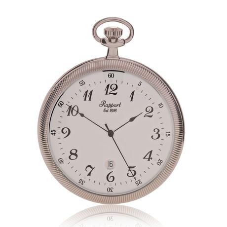 Rapport Open Face Date Pocket Watch Quartz // PW33