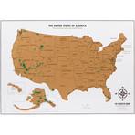 Travel Tracker Map® // USA + National Parks